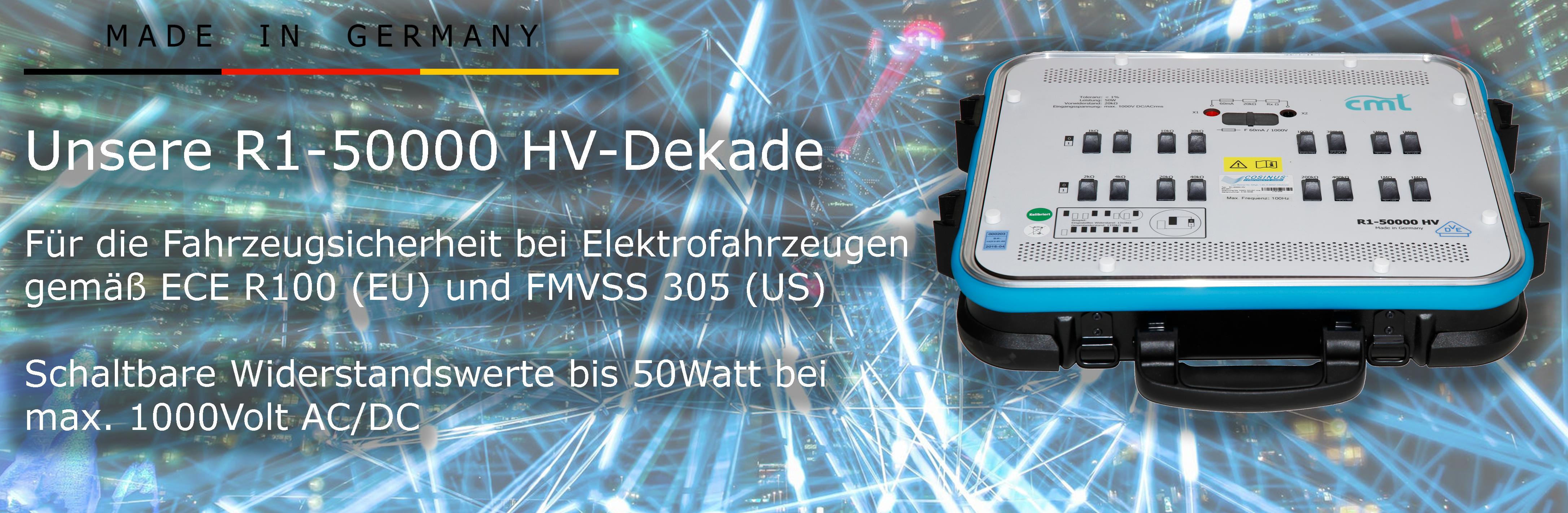 Cosinus: R1 - 50000 HV Dekade 1000 Volt / 50 Watt
